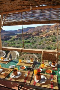 Breakfast in the Dades Gorge