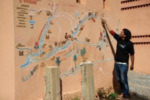 Hamid explains our route